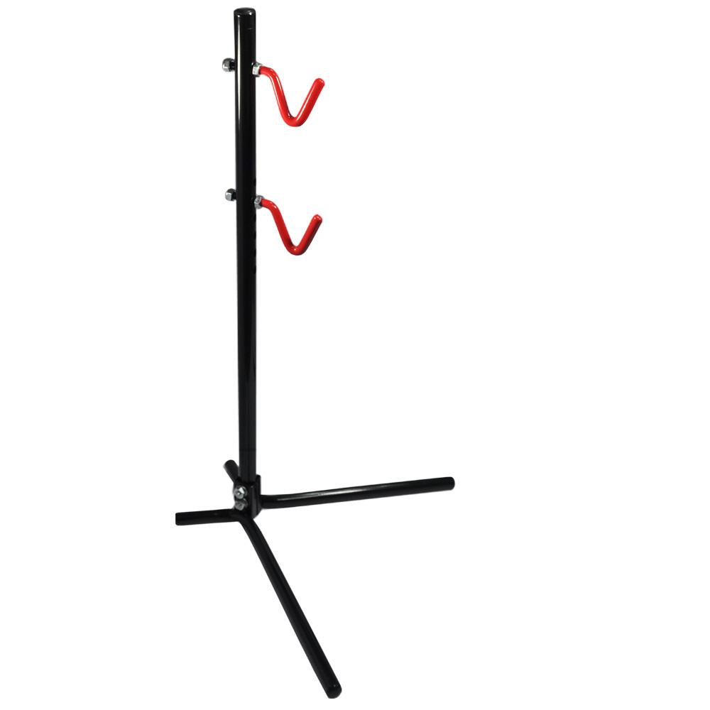 WISH 直立可調式(V型掛勾) 立車架 / 展示架 -紅勾