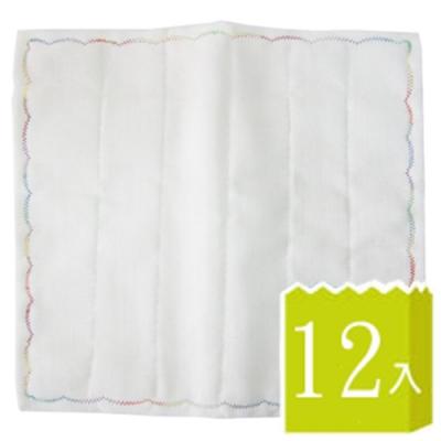 8層繡花抹布-30×30cm×12條入