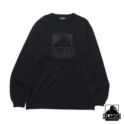 XLARGE L/S TEE EMBROIDERY OG長袖T恤-黑