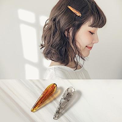 琉璃花紋髮夾-OB大尺碼