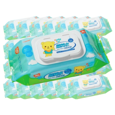 Combi康貝 - Kuma Kun 超純水嬰兒柔濕巾 80抽 24包/箱