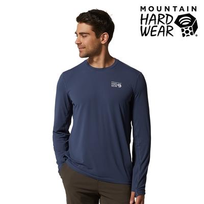 【美國 Mountain Hardwear】Crater Lake☆ Long Sleeve T 防曬快乾長袖排汗衣 男款 鋅色 #1829331