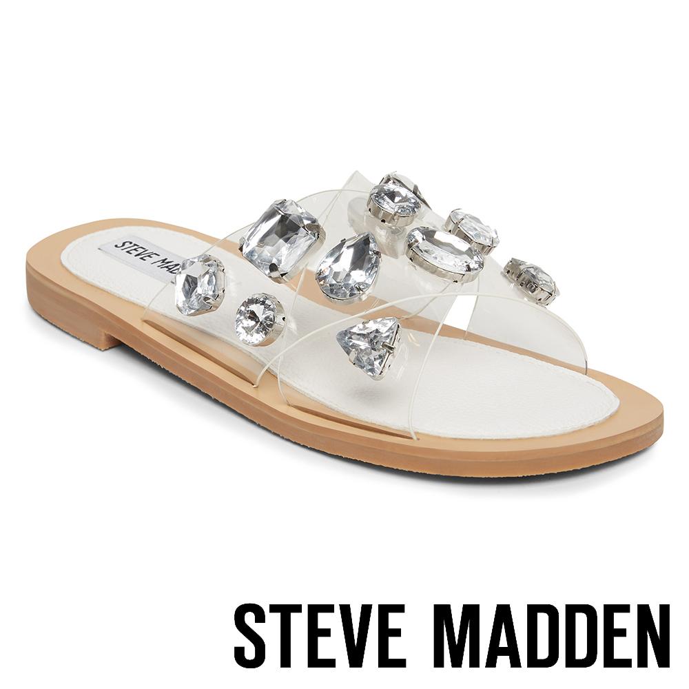 STEVE MADDEN-VIVA 水鑽透明沁涼涼鞋-銀色