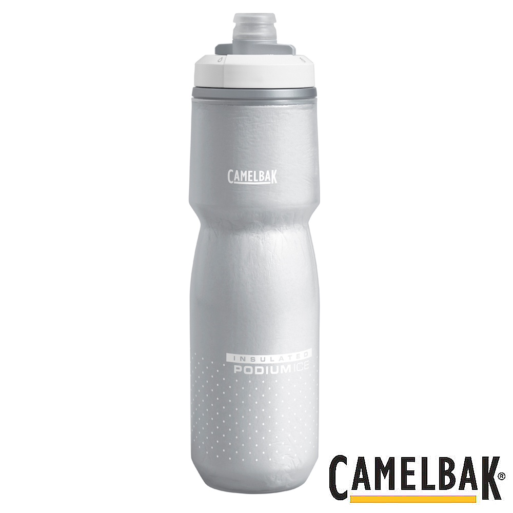 《CAMELBAK》ICE酷冰保冷噴射水瓶 雪白 620ml(CB1872101062)
