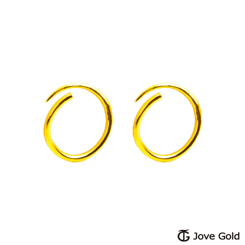 Jove gold 女神黃金耳環-大