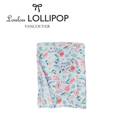 Loulou lollipop 加拿大竹纖維透氣包巾120x120cm - 藍色風鈴