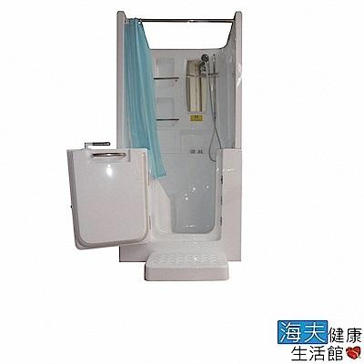 海夫健康生活館 開門式浴缸 102B-T 恆溫水柱按摩款 (100*78*205cm)
