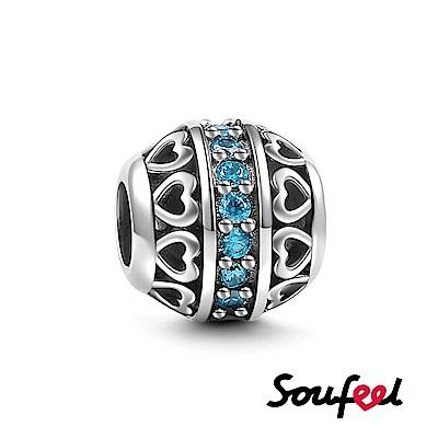 SOUFEEL索菲爾 925純銀珠飾 生日石 三月 串珠