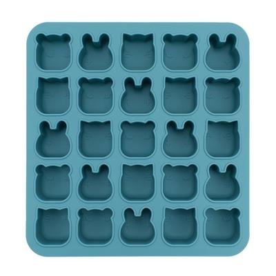澳洲We Might Be Tiny 動物矽膠製冰烘焙模具-孔雀藍(迷你版)
