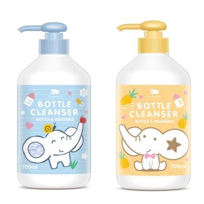 【les enphants 麗嬰房】 奶瓶蔬果酵素洗潔液 700ML (無香/鳳梨香 任選)