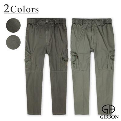 GIBBON 美式抽繩舒適鬆緊長褲-二色