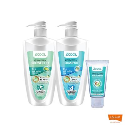 Z-COOL 抗菌3件組 (抗菌洗髮精450ml、抗菌沐浴乳450ml、保濕護手霜60g)