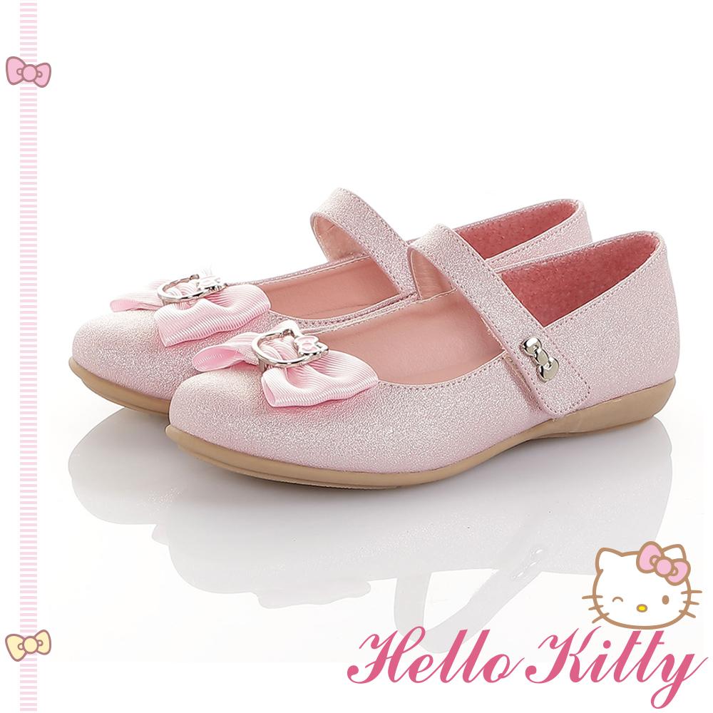 HelloKitty童鞋 傳統手工鞋蝴蝶結減壓包鞋-粉
