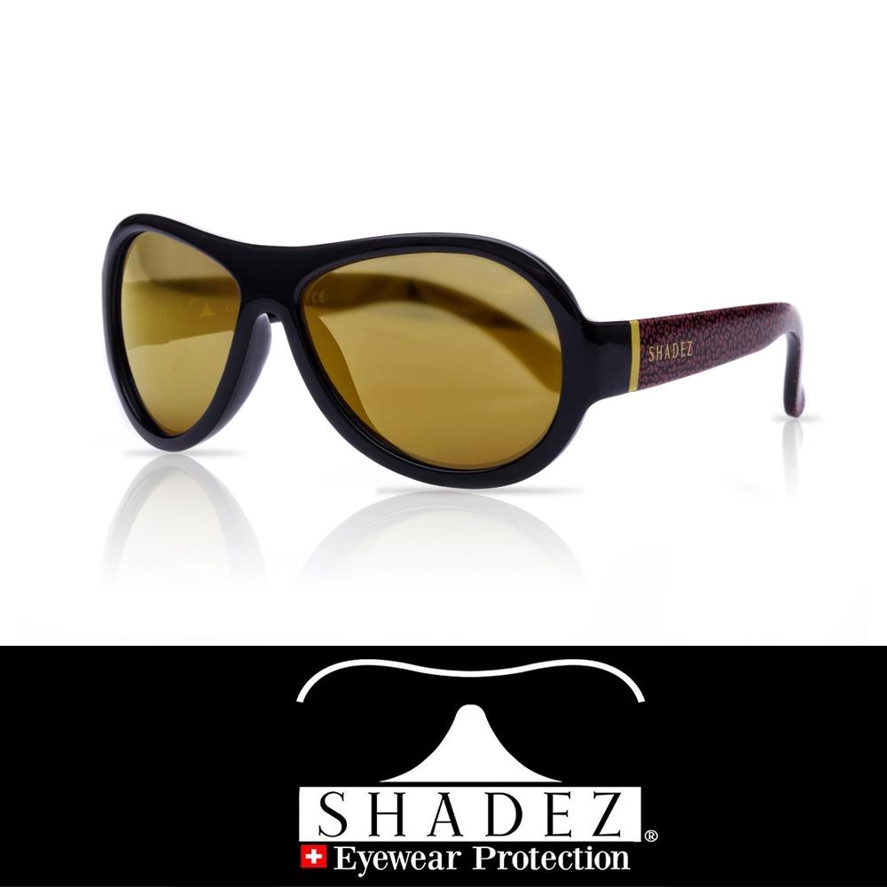 【瑞士SHADEZ】兒童太陽眼鏡 黑色豹紋 7-15歲