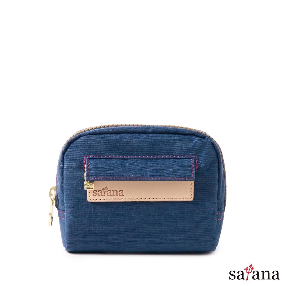 satana - Soldier Mini隨身化妝包/零錢包 - 礦青藍