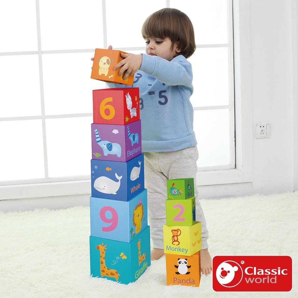 Classic World 德國經典木玩 方塊疊疊樂