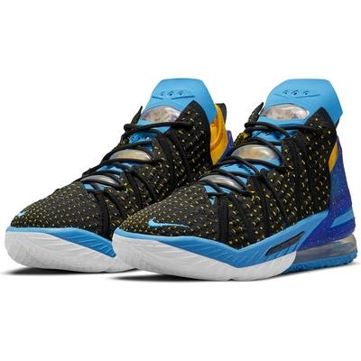 NIKE 籃球鞋  運動鞋 氣墊 緩震 包覆 男鞋 藍黑 CQ9284006 LEBRON XVIII EP