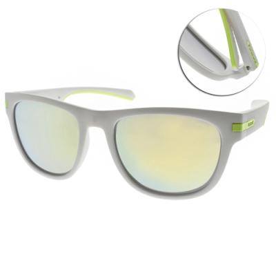 Polaroid 水銀偏光太陽眼鏡 簡約霸氣款/白-綠水銀#PLD2065S 06WOZ
