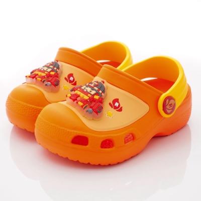 POLI童鞋 波力電燈園丁鞋款 NI1038桔黃(中小童段)