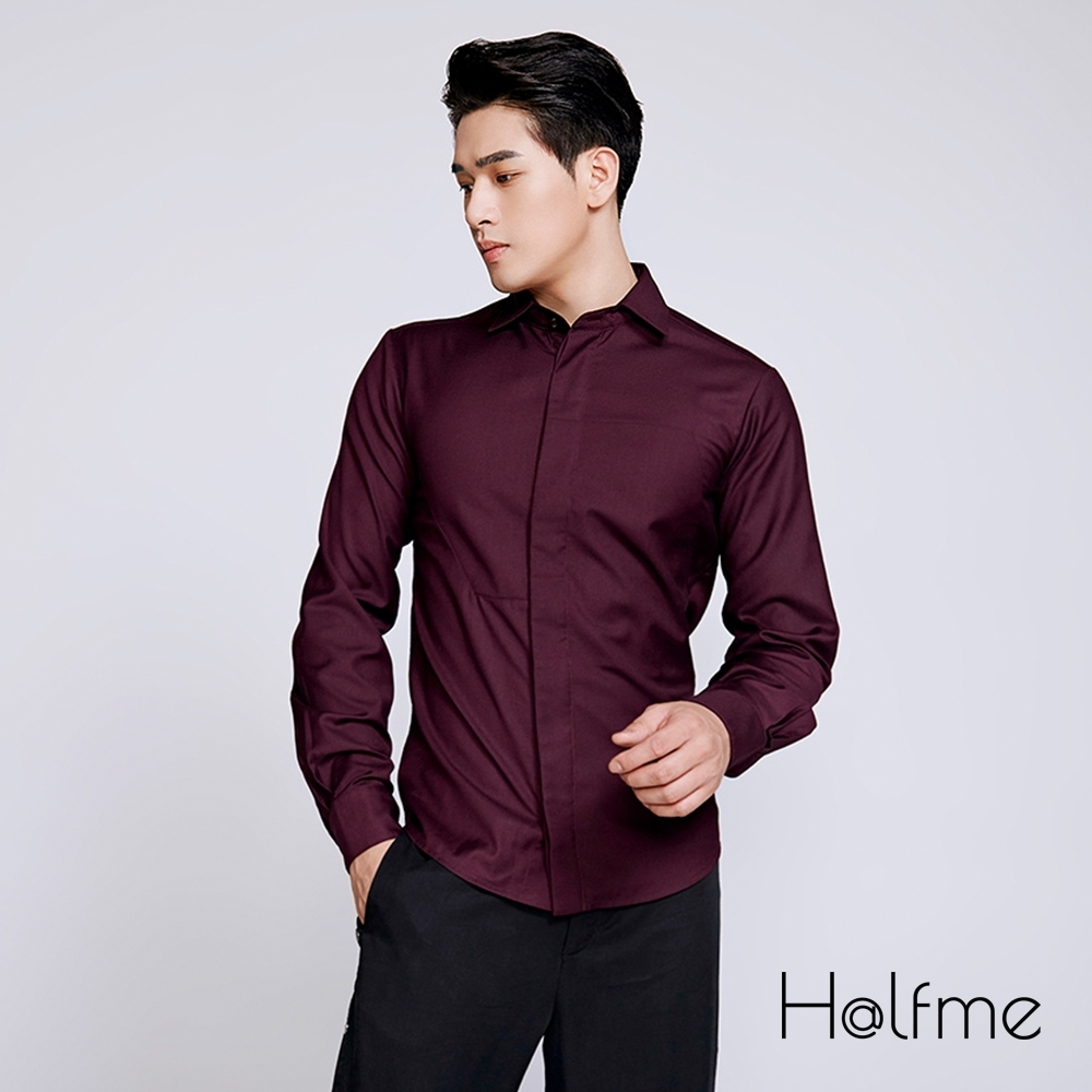 Halfme-口袋襯衫-男
