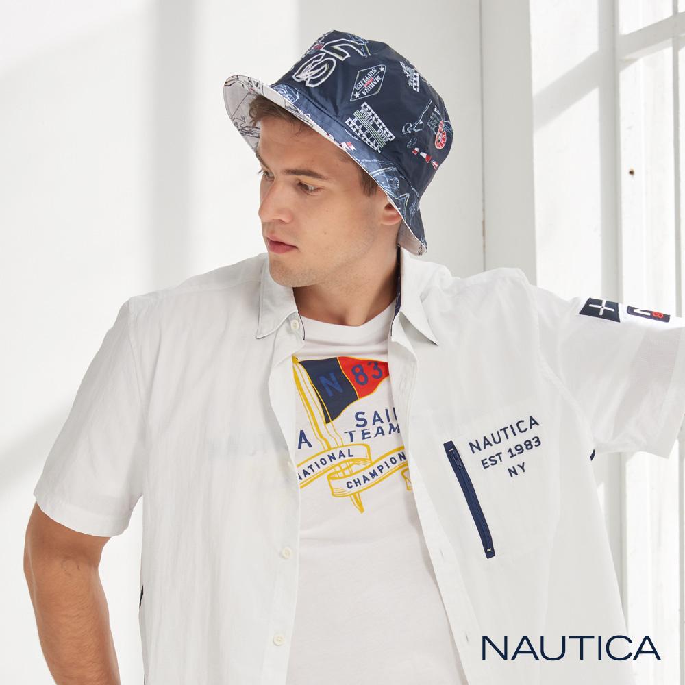 Nautica雙面造型圖騰休閒魚夫帽