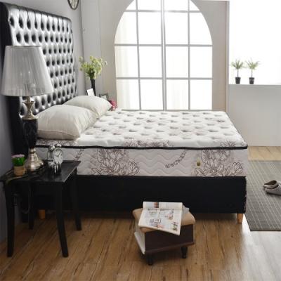 雙人5尺 奢華款-乳膠抗菌+涼感透氣-護腰型硬式獨立筒床墊 Ally