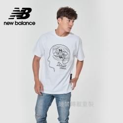 【New Balance】藝術家短袖上衣_男性_白色_AMT11519WT