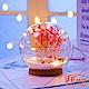 iSFun 夢幻水晶球 聖誕雪花情境玻璃球燈 粉乾燥花 product thumbnail 2