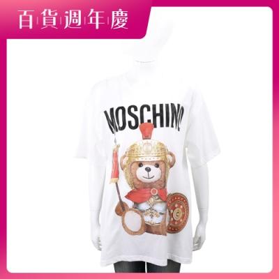 [百搭精品TEE] MOSCHINO 中性款 羅馬戰士泰迪熊寬鬆棉質T恤-2色可選