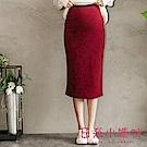 日系小媽咪孕婦裝-韓製孕婦褲~百搭素面棉質窄裙 (共四色)