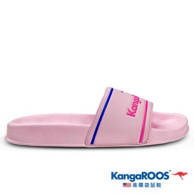 KangaROOS 美國袋鼠鞋 女 ICON SLIDE 休閒涼拖鞋(粉紅-KW01653)