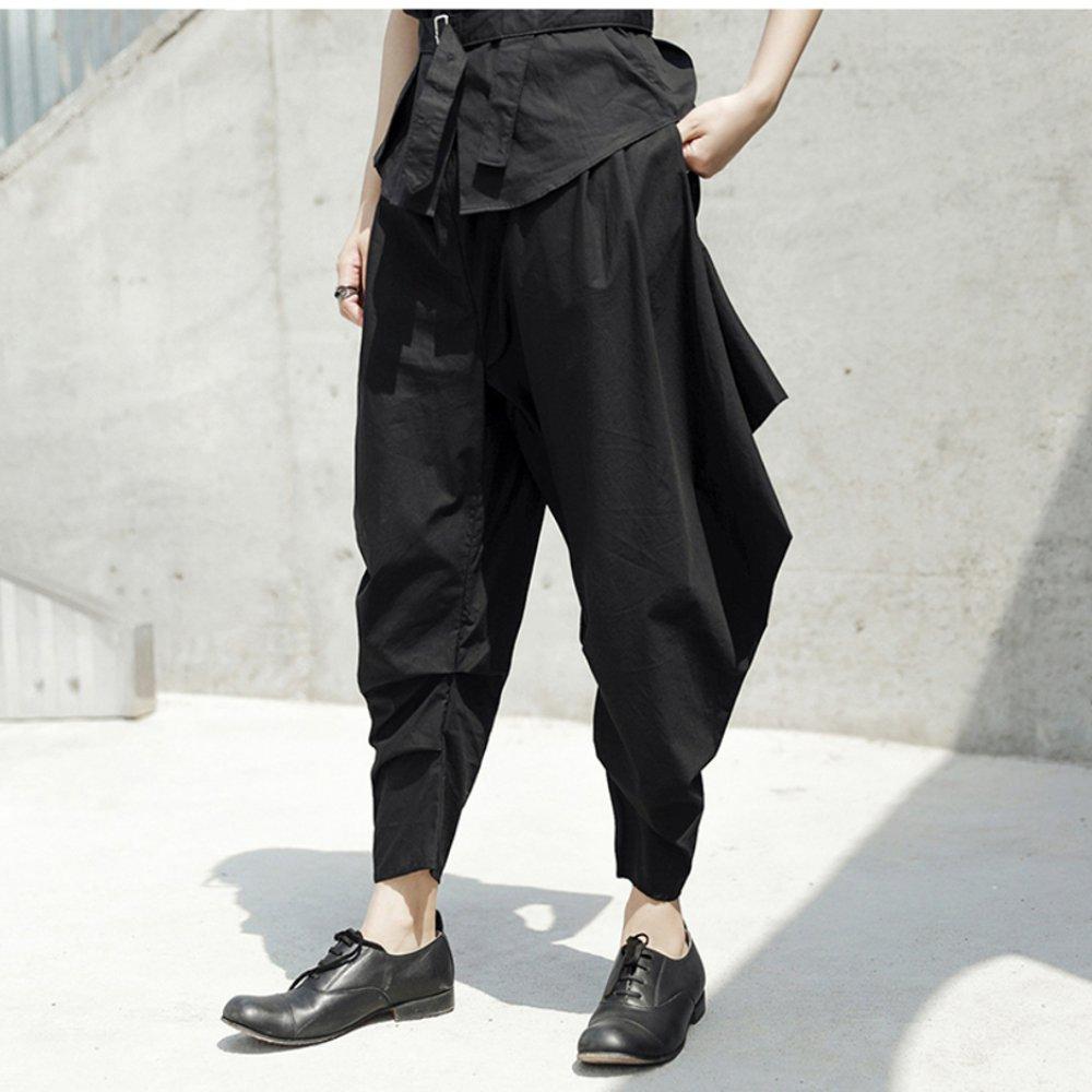 設計所在Style-新款暗黑先鋒犄角寬鬆休閒九分褲