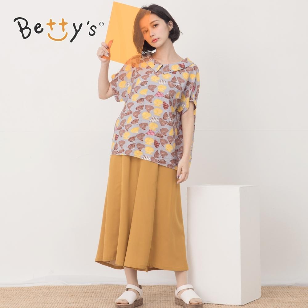 betty's貝蒂思 素面斜口袋鬆緊寬褲(芥末黃)