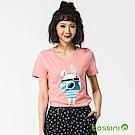 bossini女裝-印花短袖T恤55嫩粉
