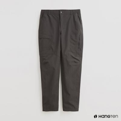 Hang Ten - 男裝 - 不對稱口袋造型休閒長褲 - 深灰