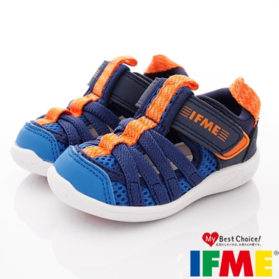 IFME健康機能鞋 輕量洞洞水鞋款 ZE10612軍藍(小童段)