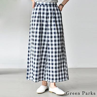 Green Parks  基本格紋設計寬褲