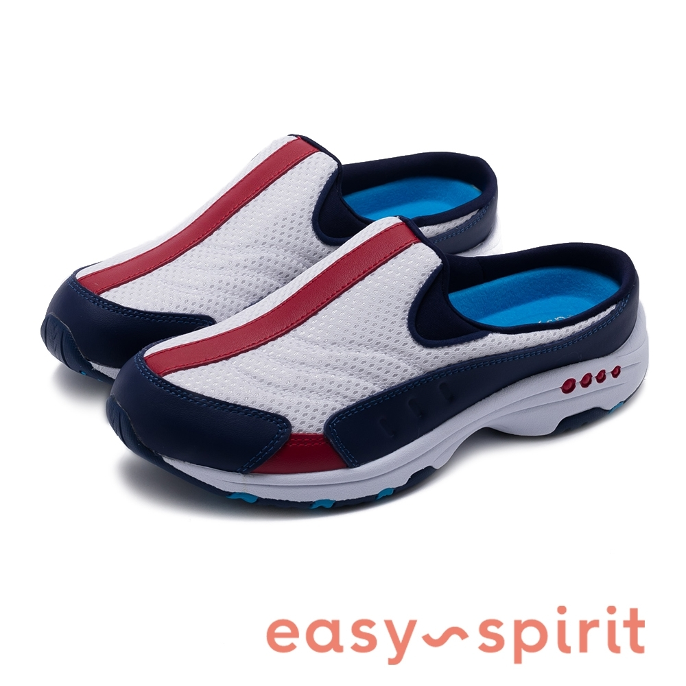 Easy Spirit-seTRAVELTIME370 輕量有型 色彩拼接透氣休閒拖鞋-藍色