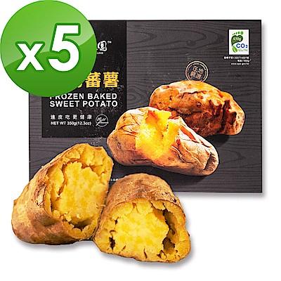 瓜瓜園-人氣地瓜冰烤蕃薯(350g/盒,共5盒)