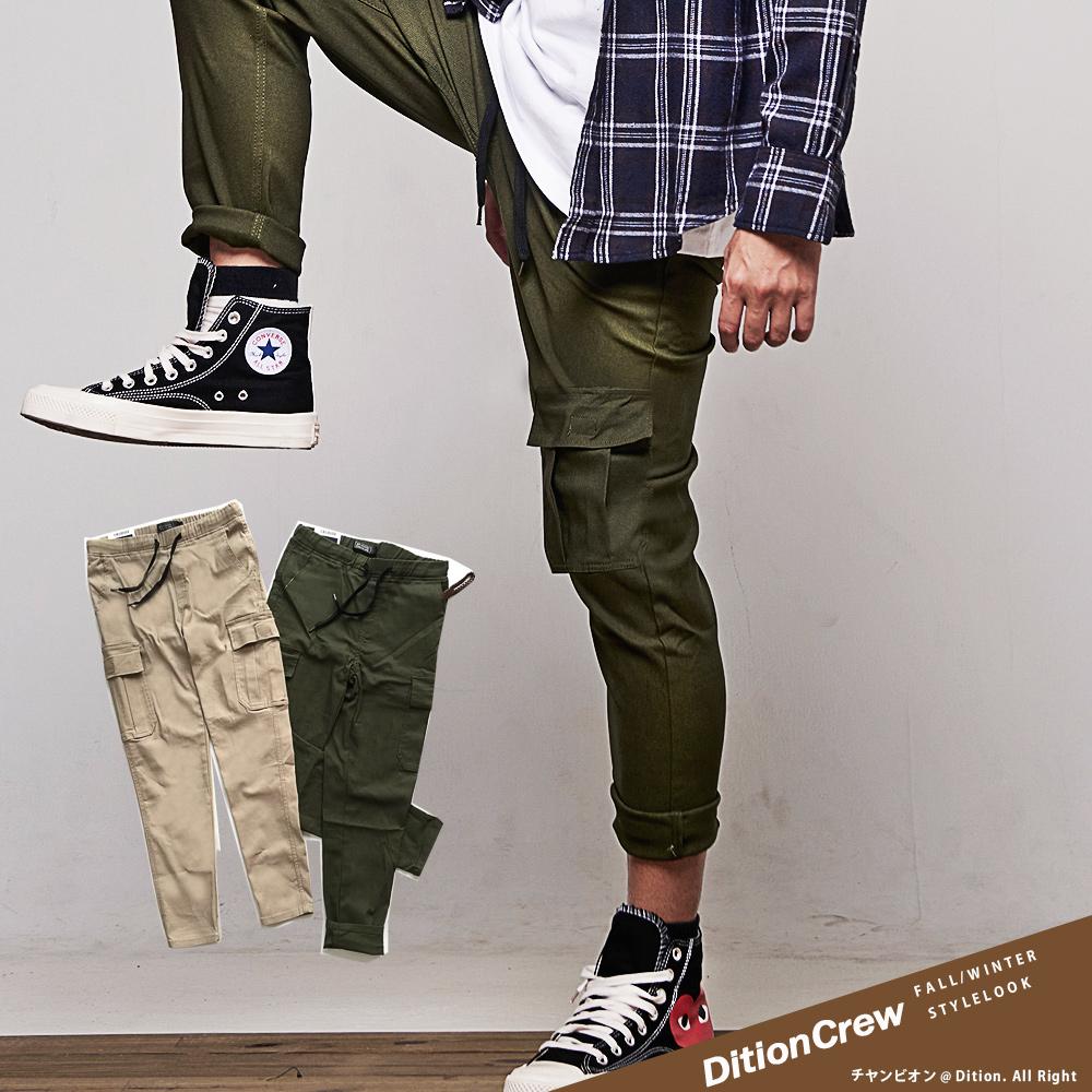DITION 工裝口袋長褲 薄刷毛 山系機能 錐形工作褲