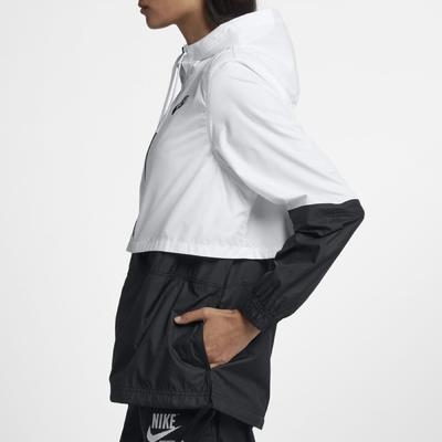 Nike 外套 NSW Repel Woven JKT 女款 抗水 涼爽 連帽 穿搭推薦 白 黑 AJ2983-102