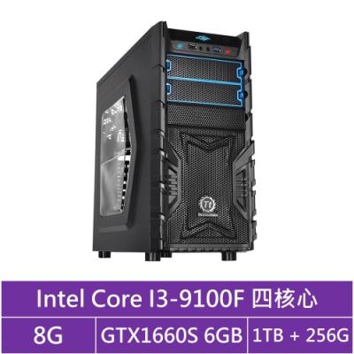 技嘉B365平台[冰刃戰神]i3四核GTX1660S獨顯電玩機