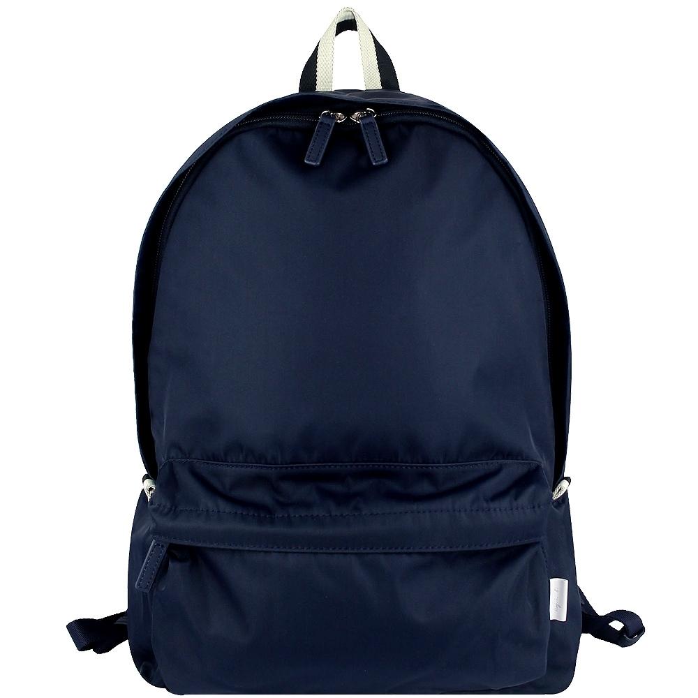 agnes b. VOYAGE 靛藍色尼龍拉鍊後背包包