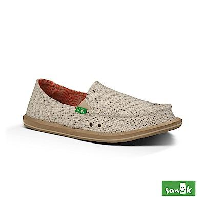 SANUK DONNA 素面內民俗圖騰懶人鞋-女款(米色)