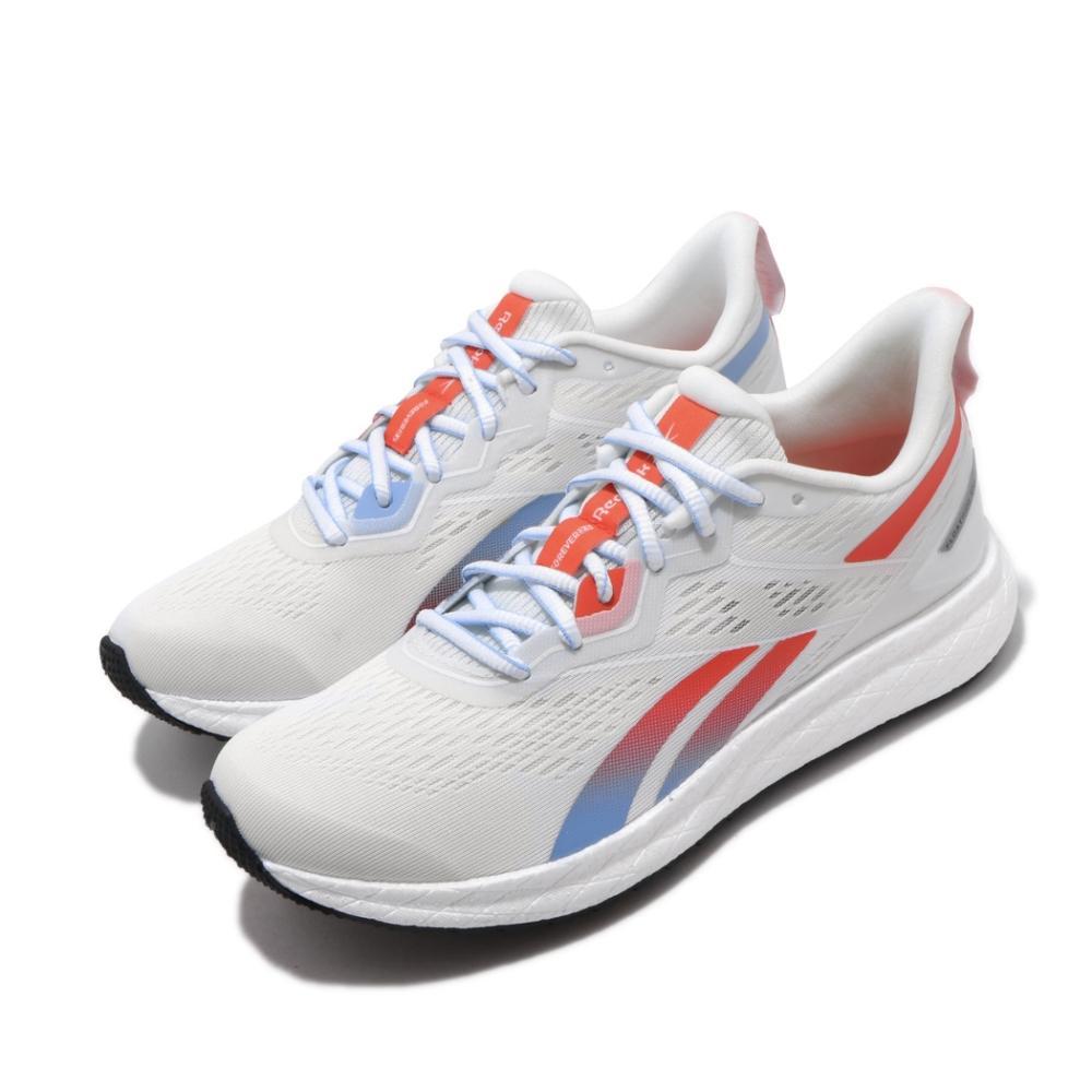 Reebok 慢跑鞋 Forever Floatride 女鞋 輕量 透氣 舒適 避震 路跑 健身 白 橘 EF6909