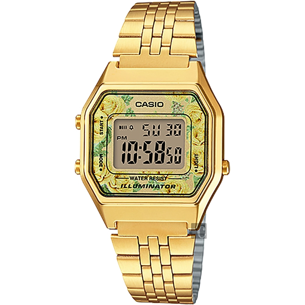 CASIO 卡西歐 玫瑰電子金錶(LA680WGA-9C)