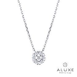 A-LUXE 亞立詩 18K愛心鑽石項鍊