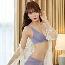 曼黛瑪璉 無鋼圈內衣  D-F罩杯(甜美紫)