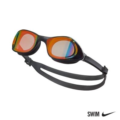 NIKE 成人 超廣角鏡面泳鏡 EXPANSE 橙 NESSB160-840 (男女泳鏡)
