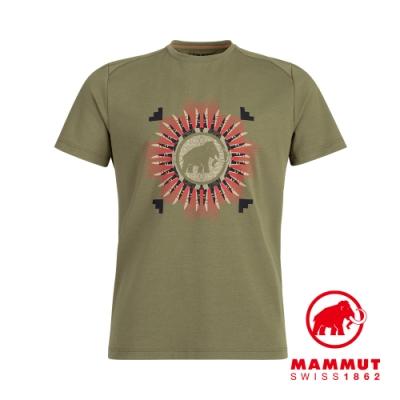【Mammut 】Trovat T-Shirt Men 機能LOGO素色短袖 T-Shirt 男款 橄欖綠PRT1 #1017-09863
